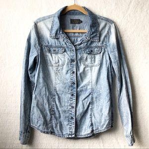 Ci Sono Acid wash button up shirt